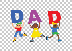 字母表孩子,父亲节Pic PNG剪贴画假期,文本,虚构人物,卡通,免版税