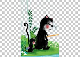 卡通儿童,猫钓PNG剪贴画动物,猫像哺乳动物,摄影,海报,儿童,水族