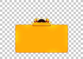卡通图标,黄色框架宣传PNG剪贴画框架,金色框架,时尚框架,矩形,橙