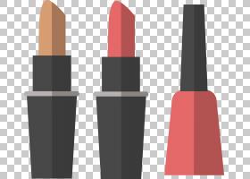 口红化妆品指甲油,卡通指甲油和口红PNG剪贴画卡通人物,时尚,生日