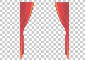 卡通舞台红色,精美窗帘PNG剪贴画角,家具,矩形,纺织,舞台,表演,领