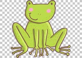 五只小斑点青蛙,卡通绿色青蛙PNG剪贴画卡通人物,动物,脊椎动物,