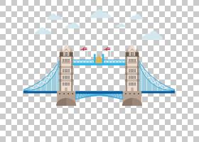 伦敦桥塔桥大本钟伦敦眼,伦敦桥桥卡通云创意PNG剪贴画卡通人物,