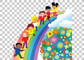前,学校儿童课堂教育,彩虹PNG剪贴画类,蹒跚学步,颜色,彩虹圈,虚