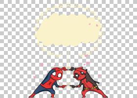 中国日本蜘蛛侠海报,竞争蜘蛛侠PNG剪贴画文本,心,对话框,世界,卡