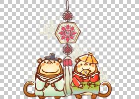 中国十二生肖中国新年兔,兔子中国结前PNG剪贴画食品,中式风格,装