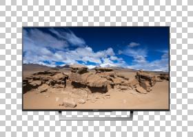 Bravia LED背光液晶4K分辨率电视机,索尼PNG剪贴画电视,风景,图片图片