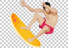 风筝冲浪图标,冲浪小帅气的PNG剪贴画健身,摄影,运动,手,运动器材