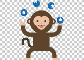 猴子马戏团,马戏团猴子PNG剪贴画杂项,哺乳动物,脊椎动物,头,卡通