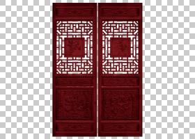 红色中国风,红木古典中国风门PNG剪贴画白色,家具,矩形,对称,打开