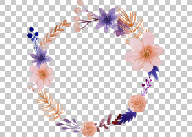 花卉水彩画花圈,水彩花卉PNG剪贴画水彩画叶子,叶子,手,装饰,卡通