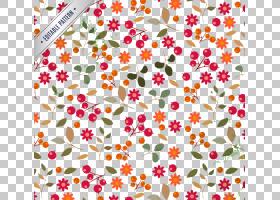 花卉背景与浆果无缝材料PNG剪贴画叶,纺织,心,海报,生日快乐矢量