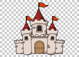 城堡内容,卡通城堡的PNG剪贴画网站,公共领域,线条艺术,房子,家庭