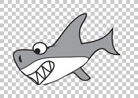 大白鲨卡通,鲨鱼PNG剪贴画海洋哺乳动物,哺乳动物,动物,脊椎动物,
