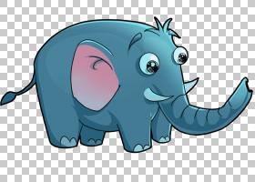 大象儿童动物,大象卡通PNG剪贴画卡通人物,蓝色,游戏,哺乳动物,动