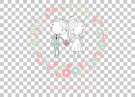 婚礼邀请,可爱的卡通人物设计婚礼PNG剪贴画爱情,白色,哺乳动物,