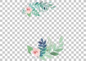 婚礼邀请水彩画花,花,粉红色的花朵与绿叶画PNG剪贴画框架,插花,