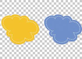 对话框对话设计器,黄云对话PNG剪贴画爱,其他,文本,云,心,黄色鲜