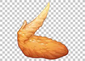 布法罗翼炸鸡热鸡,炸鸡翅卡通PNG剪贴画卡通人物,食品,橙,鸡肉,鸡
