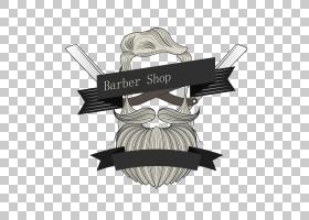 徽标理发师平面设计,胡子PNG剪贴画标签,摄影,人民,生日快乐矢量