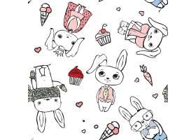 可爱卡通兔子矢量元素