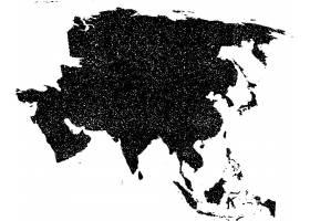创意地图国家区域剪影矢量图