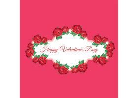 简洁花卉爱心情人节装饰图案插画设计