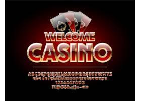 创意扑克牌赌场装饰图案