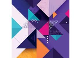 抽象背景与几何无缝图案集合