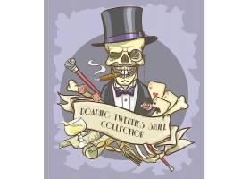 极具个性创意骷髅T恤印花装饰图案设计