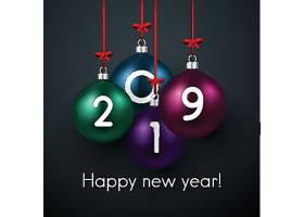 2019新年气球元素装饰图案设计