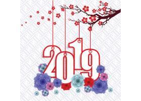 中国风2019新年元素装饰图案设计