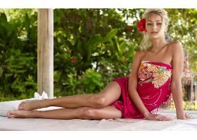 女人,安娜,Sbitnaya,模型,乌克兰,白皙的,棕色,眼睛,花,毛巾,赤脚