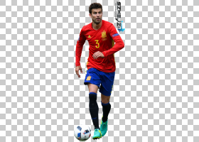 GerardPiqué西班牙国家足球队足球运动员渲染,足球PNG剪贴画T恤,