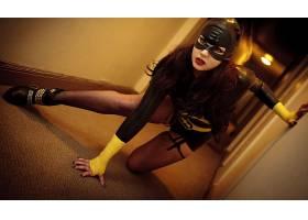 女人,角色扮演,蝙蝠女侠,妇女,靴子,面具,大腿,高点,渔网,长的,头