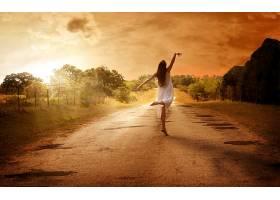 女人,情绪,女巫,风格,跳舞,舞蹈,庆祝,神秘的,日出,季节,秋天,壁