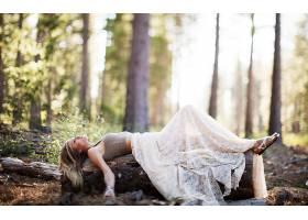 女人,情绪,妇女,风格,世俗的,森林,摄影,壁纸,