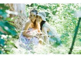 女人,情绪,森林,自然,壁纸,