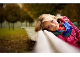 女人,情绪,模型,时尚,风格,秋天,季节,叶子,壁纸,