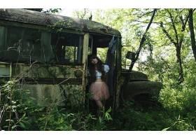 女人,情绪,模型,野蛮的,Emo,森林,位置,壁纸,