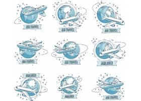 创意个性飞机元素装饰插画设计