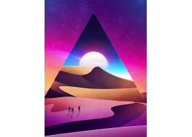 H5炫彩抽象沙漠背景图片