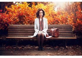 女人,情绪,女孩,秋天,法国,波尔多葡萄酒,壁纸,