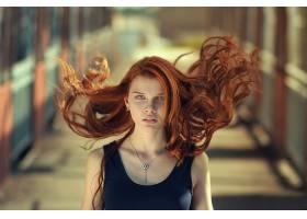 女人,情绪,妇女,模特,红发的人,绿色的,眼睛,项链,壁纸,