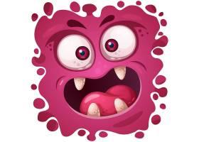 扁平化创意可爱小怪兽表情矢量装饰图案
