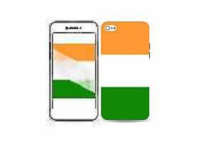 创意国旗色手机壳背景插画设计