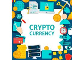 金融比特币加密货币概念插画设计