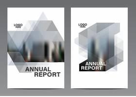 创意朦胧风格通用商务企业通用画册模板