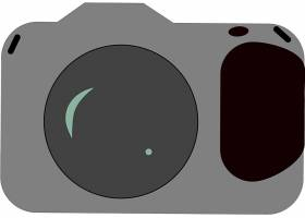 黑色单反数码相机矢量设计
