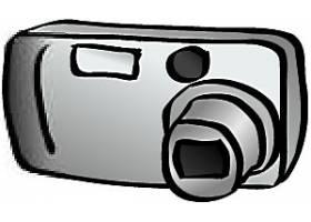 手绘相机数码产品矢量设计